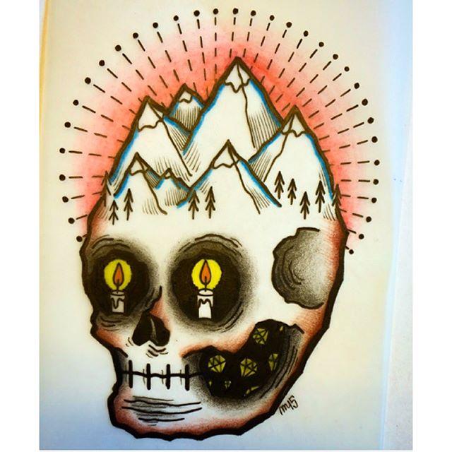 Skicka ett PM för tider! @marcelles.electric  #tattoo#ink#tattoos#tatuering#gadd#stockholm#nicesthlm#sketch#skull #diamond